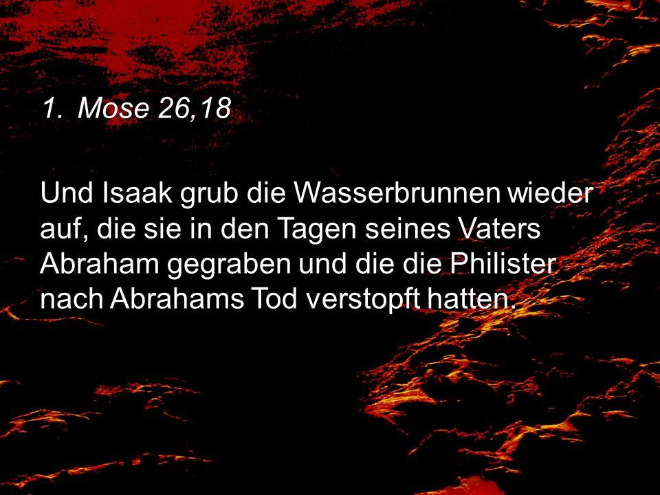 Mose 26,18