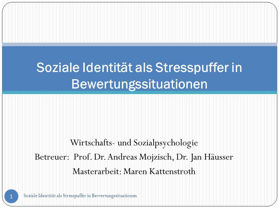 Soziale Identität als Stresspuffer in Bewertungssituationen