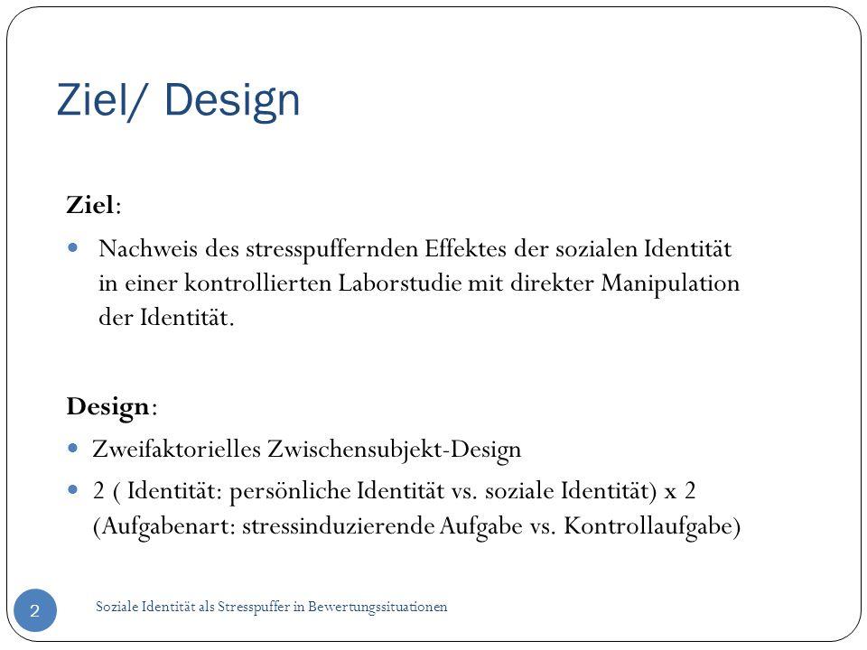 Ziel/ Design Ziel:
