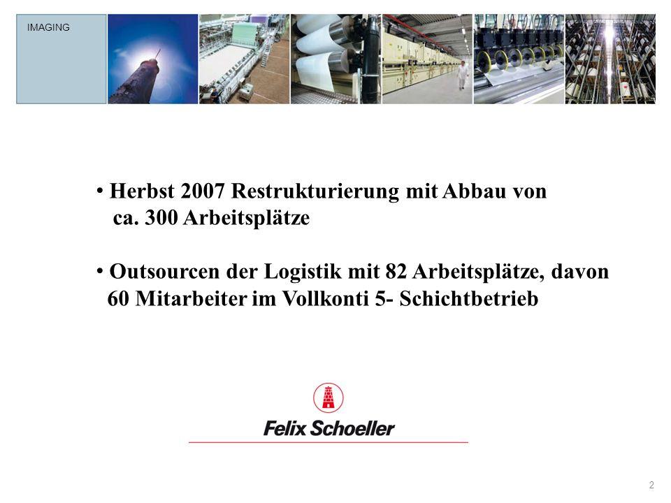 Herbst 2007 Restrukturierung mit Abbau von