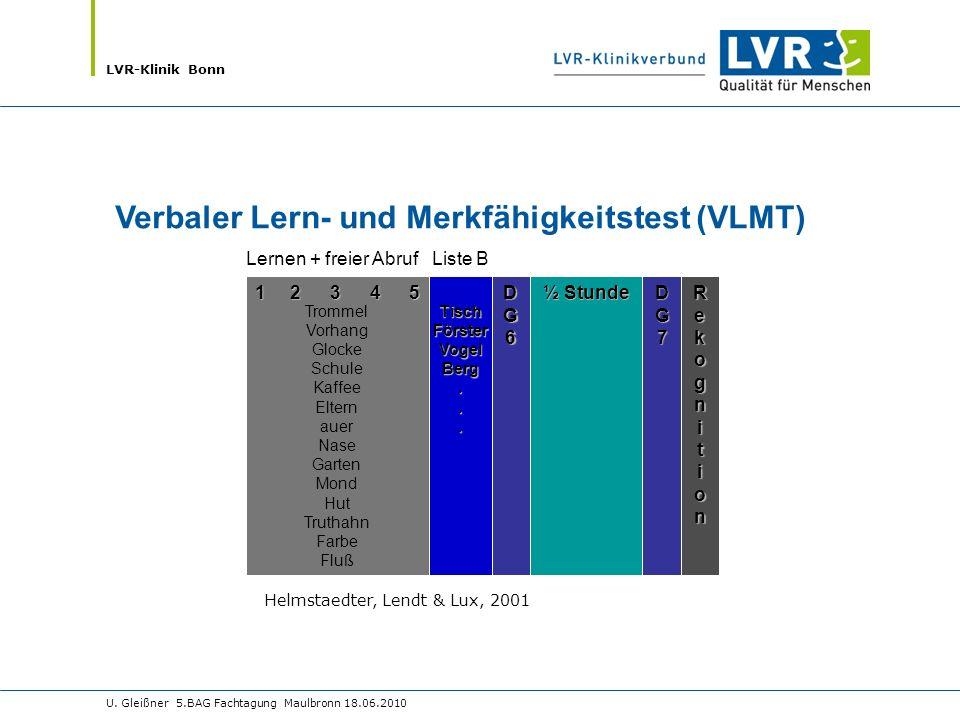 Verbaler Lern- und Merkfähigkeitstest (VLMT)