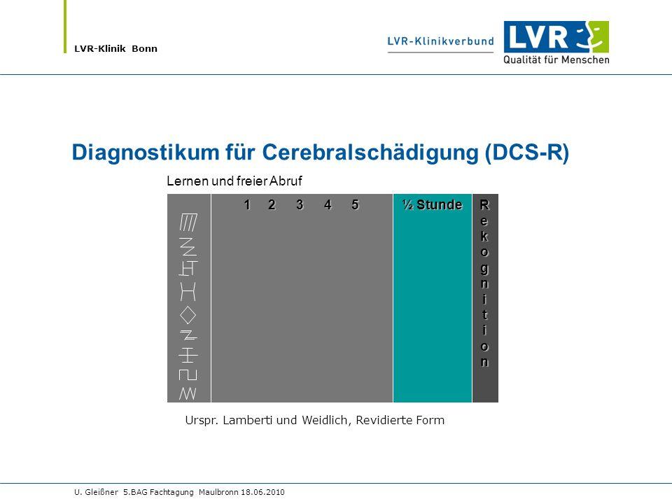 Diagnostikum für Cerebralschädigung (DCS-R)