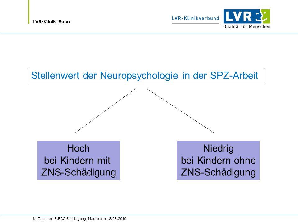 Stellenwert der Neuropsychologie in der SPZ-Arbeit