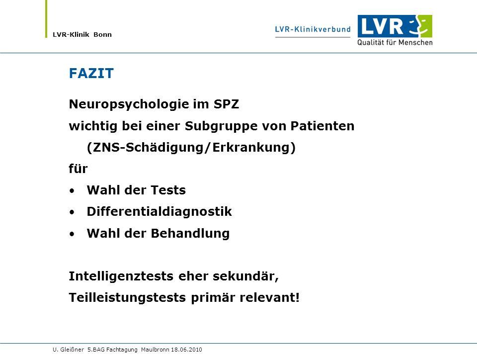 FAZIT Neuropsychologie im SPZ