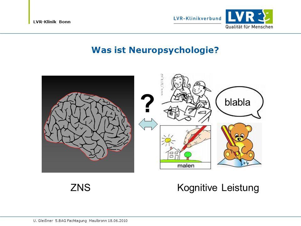 blabla ZNS Kognitive Leistung Was ist Neuropsychologie