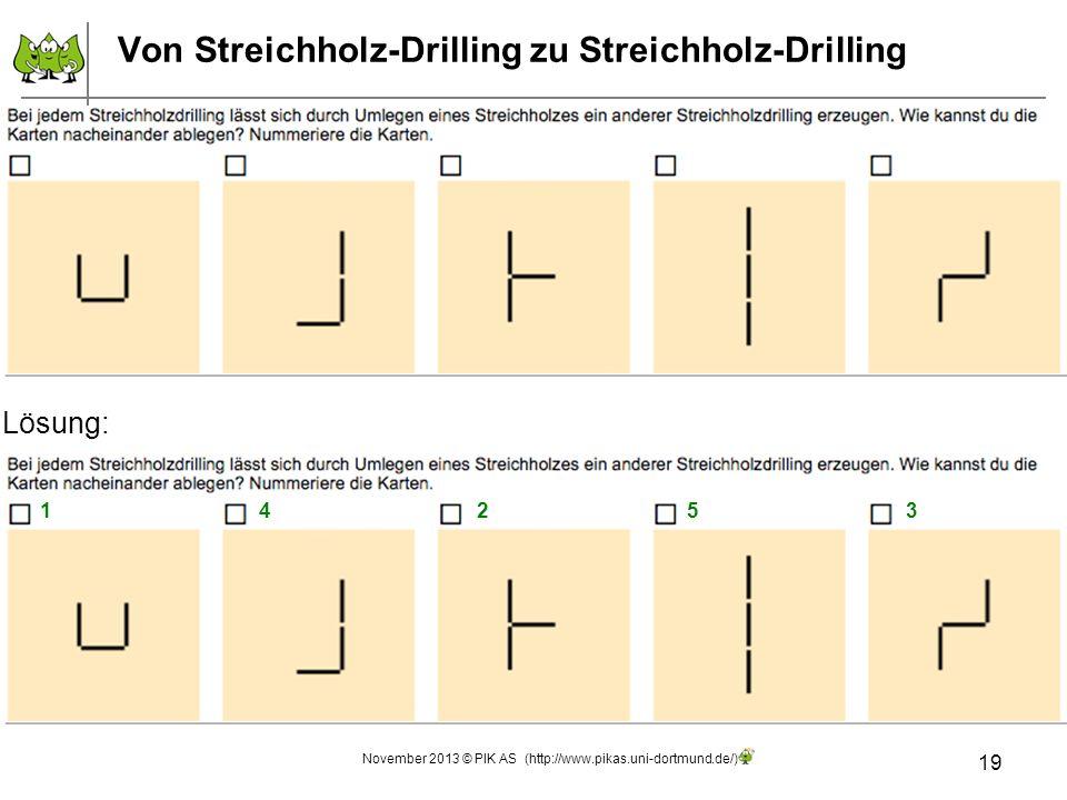 Von Streichholz-Drilling zu Streichholz-Drilling