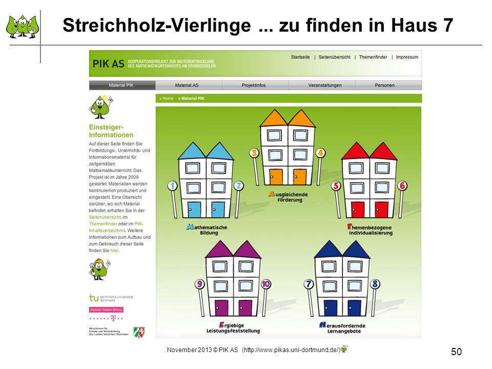Streichholz-Vierlinge ... zu finden in Haus 7
