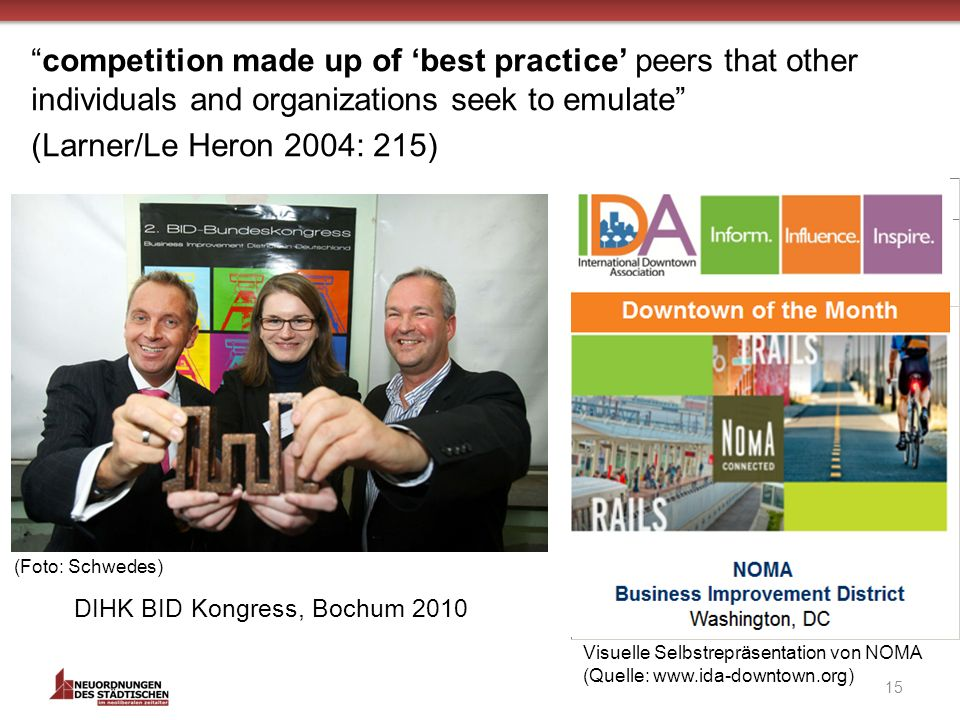 competition made up of 'best practice' peers that other individuals and organizations seek to emulate