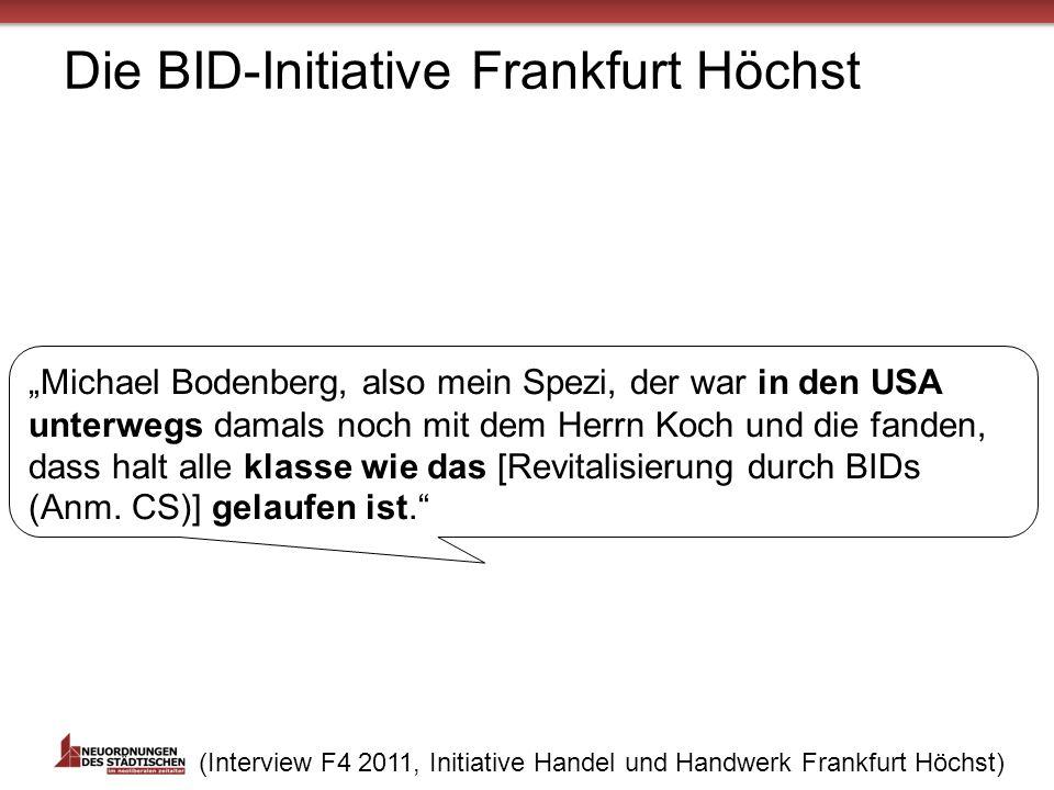 Die BID-Initiative Frankfurt Höchst