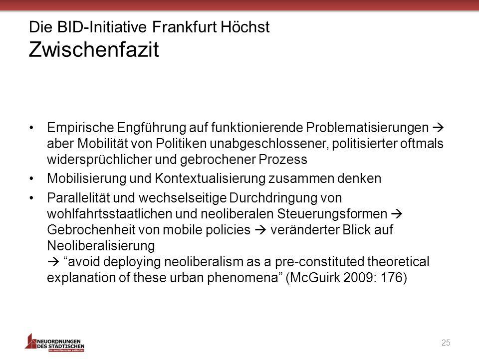 Die BID-Initiative Frankfurt Höchst Zwischenfazit