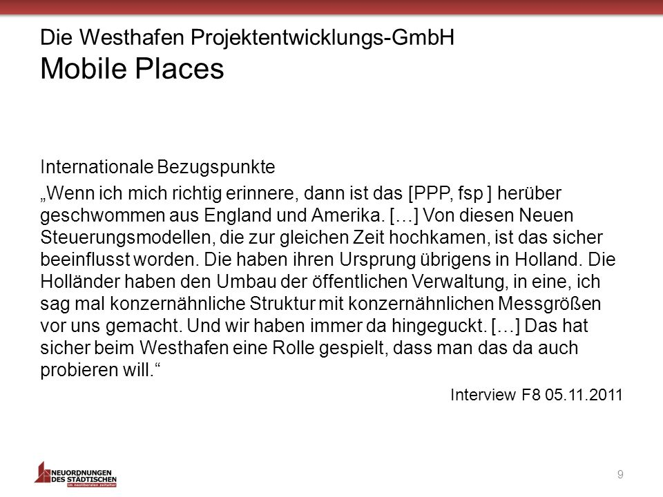 Die Westhafen Projektentwicklungs-GmbH Mobile Places