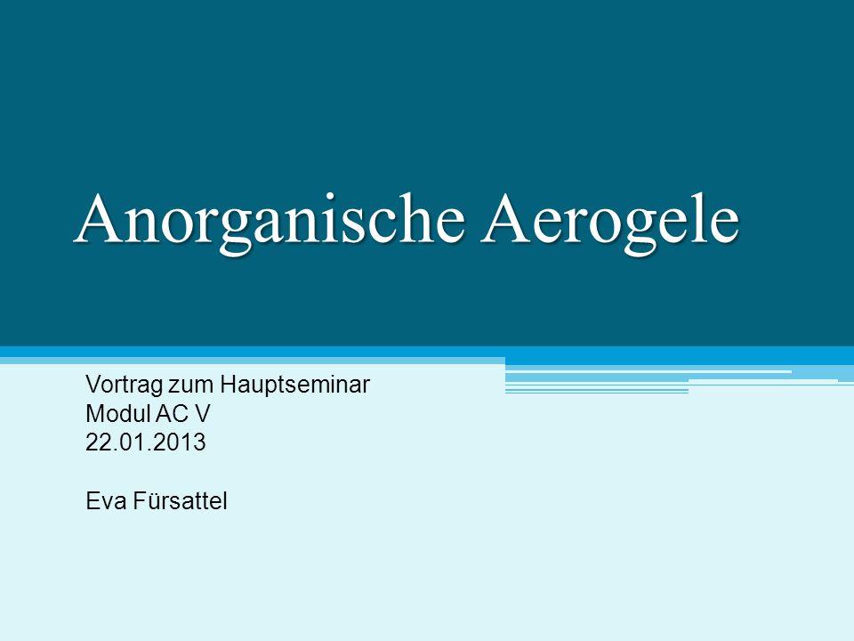 Anorganische Aerogele