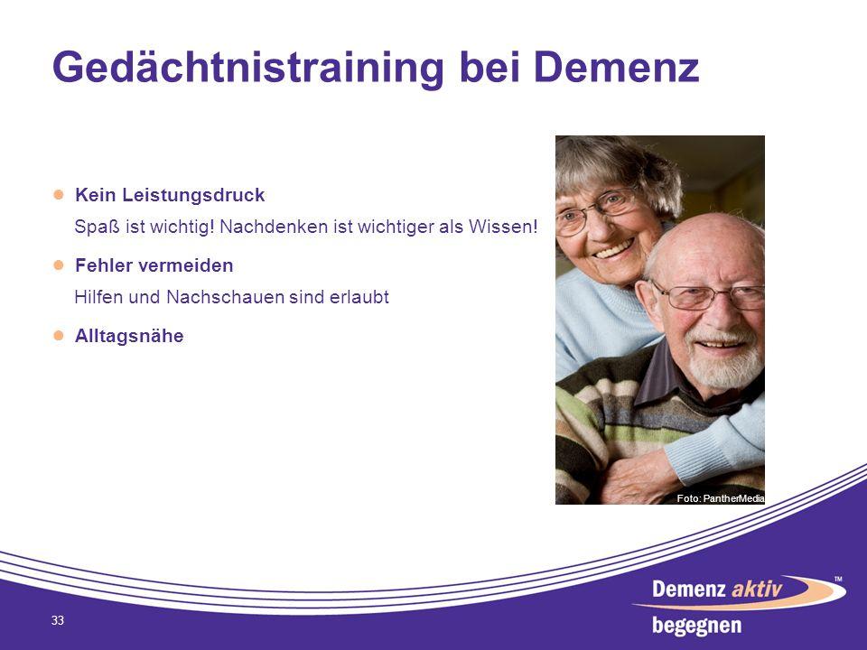 Gedächtnistraining bei Demenz