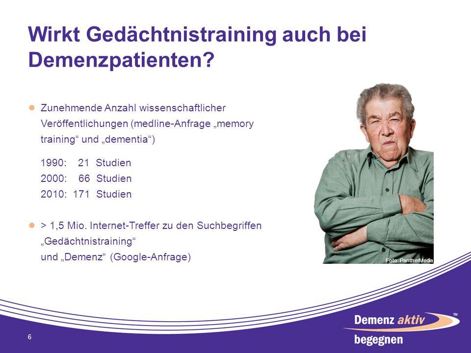 Wirkt Gedächtnistraining auch bei Demenzpatienten