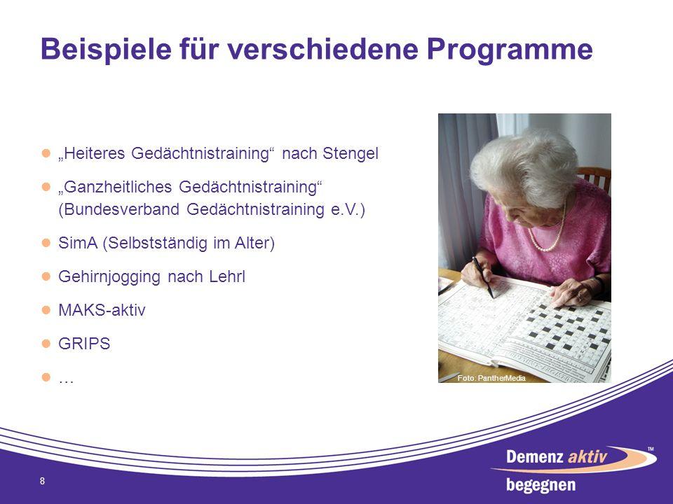 Beispiele für verschiedene Programme