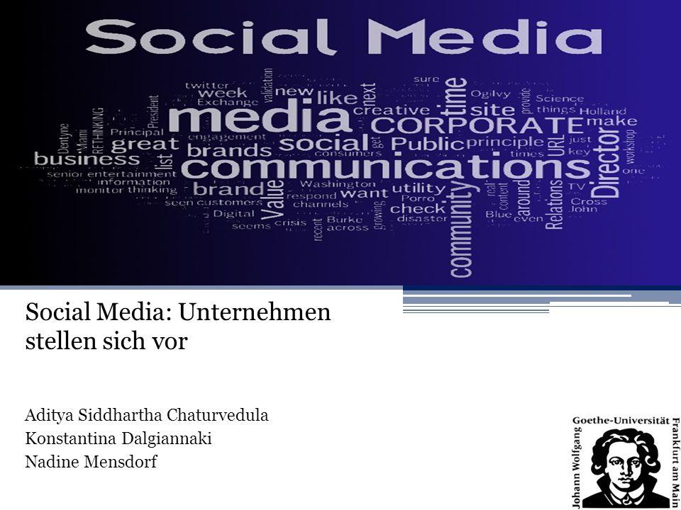 Social Media: Unternehmen stellen sich vor