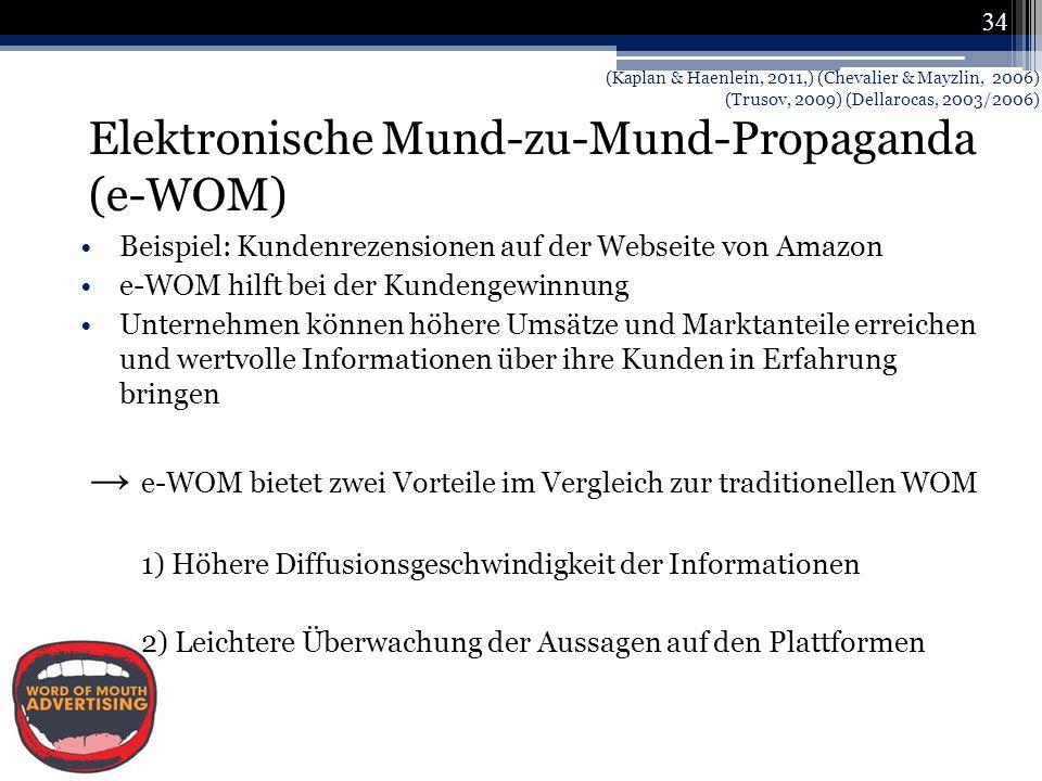 Elektronische Mund-zu-Mund-Propaganda (e-WOM)