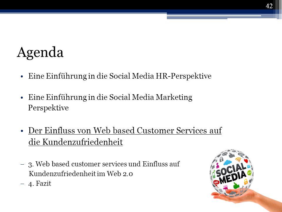Agenda Der Einfluss von Web based Customer Services auf