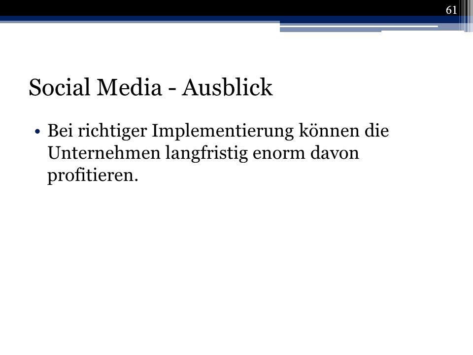 Social Media - Ausblick
