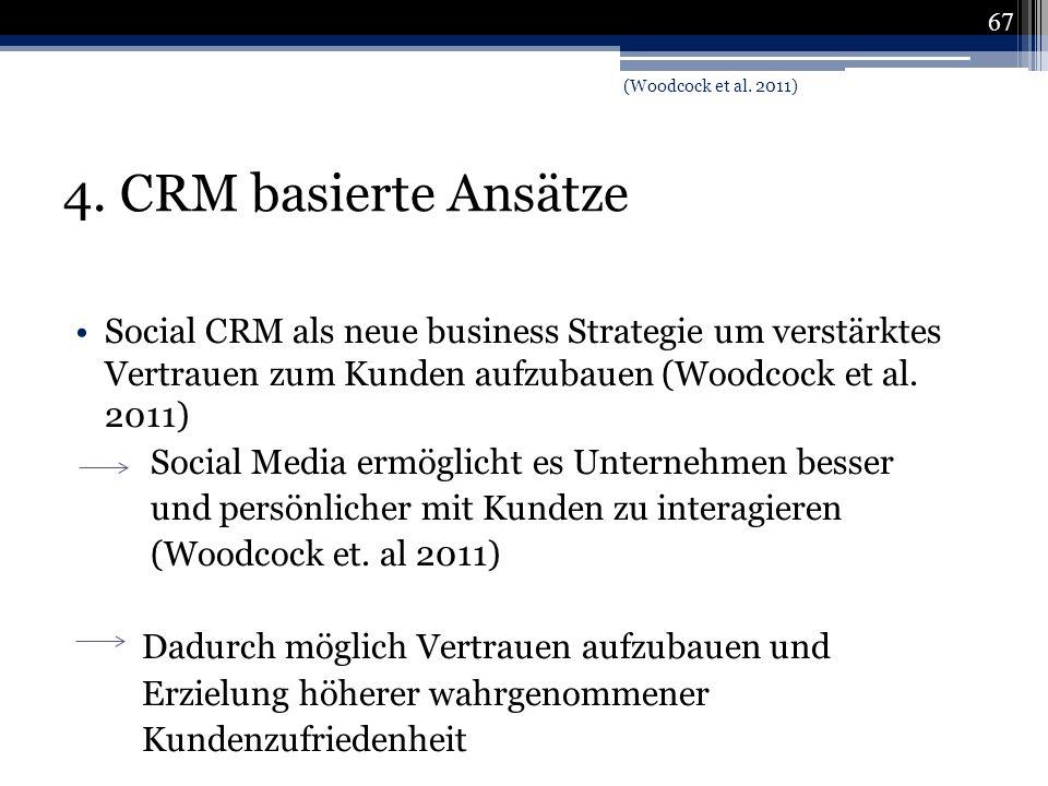 (Woodcock et al. 2011) 4. CRM basierte Ansätze.