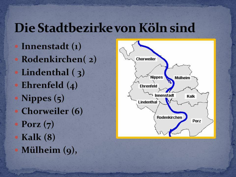 Die Stadtbezirke von Köln sind