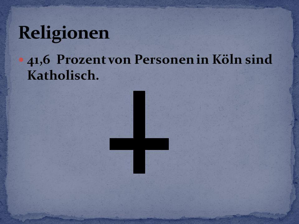 Religionen 41,6 Prozent von Personen in Köln sind Katholisch.
