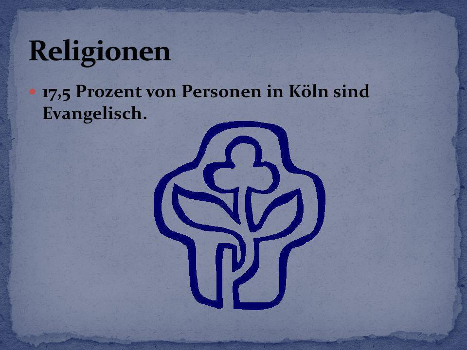Religionen 17,5 Prozent von Personen in Köln sind Evangelisch.