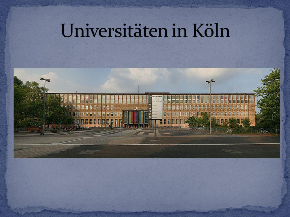 Universitäten in Köln