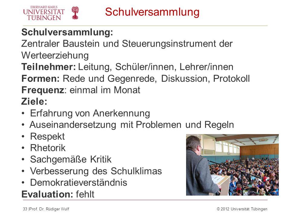 Schulversammlung Schulversammlung: