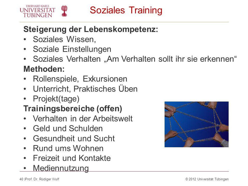 Soziales Training Steigerung der Lebenskompetenz: Soziales Wissen,