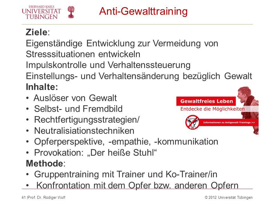 Anti-Gewalttraining Ziele: