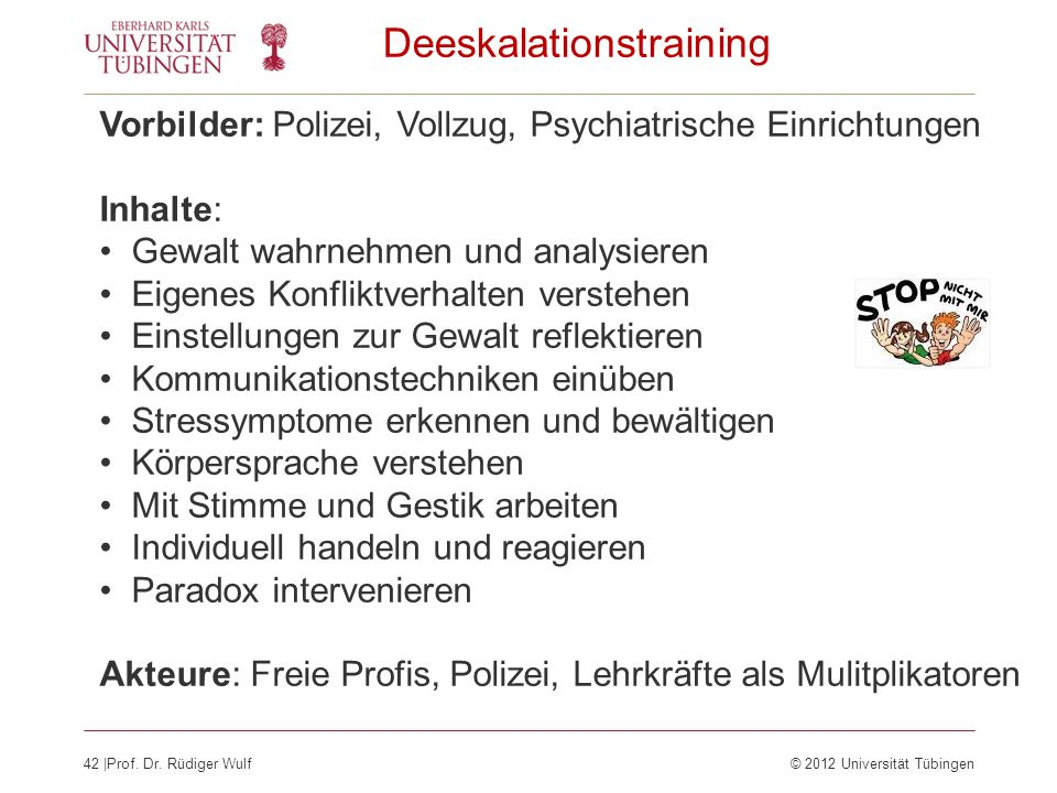 Deeskalationstraining