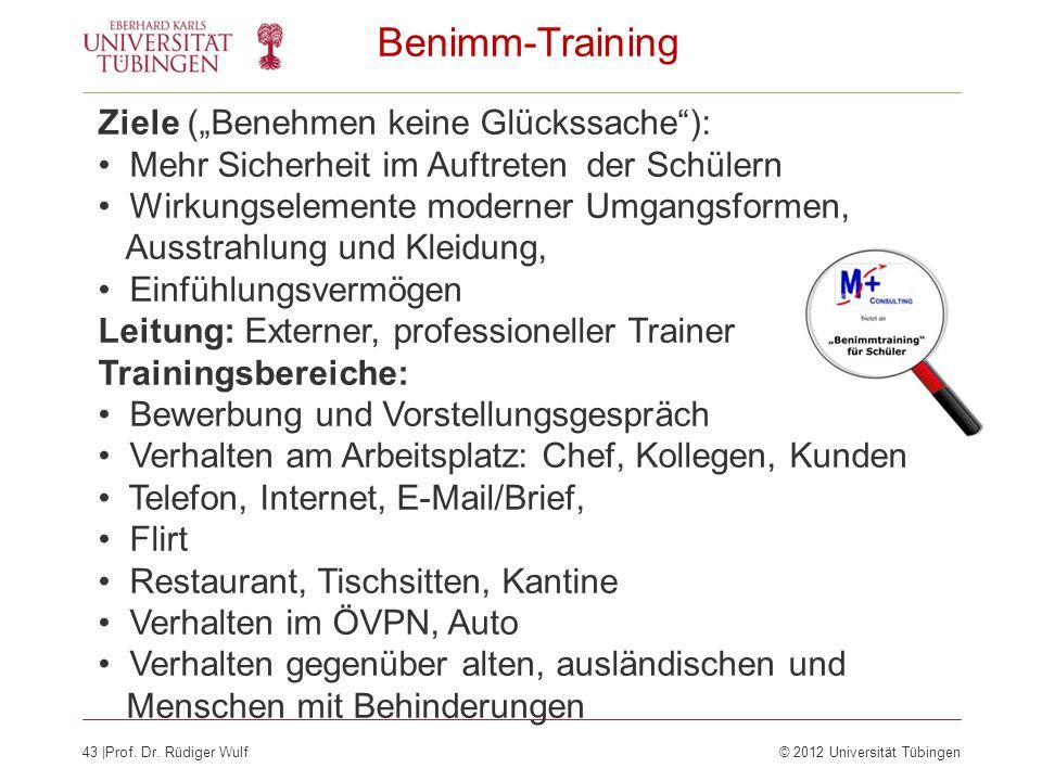 """Benimm-Training Ziele (""""Benehmen keine Glückssache ):"""