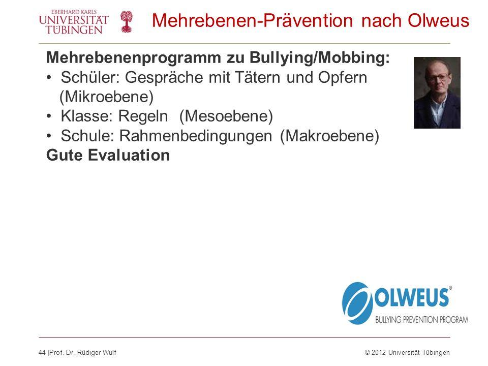 Mehrebenen-Prävention nach Olweus