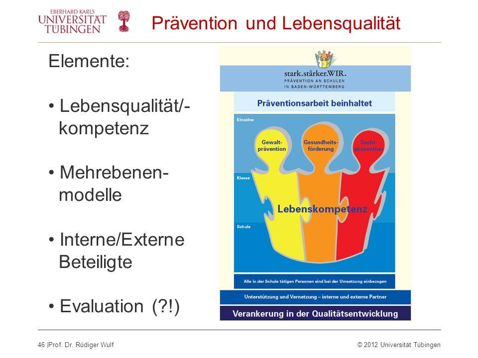 Prävention und Lebensqualität