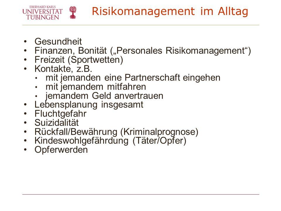 Risikomanagement im Alltag