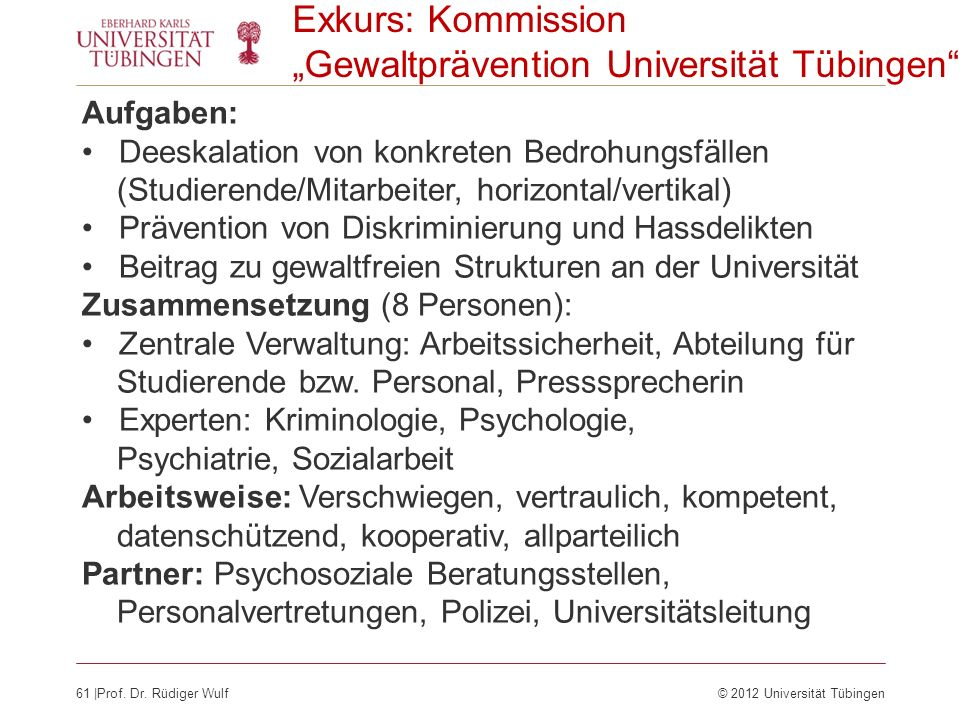 """Gewaltprävention Universität Tübingen"