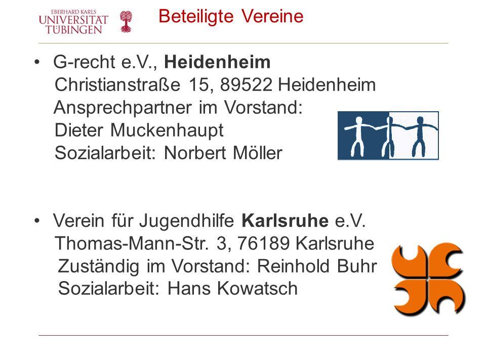 Beteiligte Vereine G-recht e.V., Heidenheim. Christianstraße 15, 89522 Heidenheim. Ansprechpartner im Vorstand: