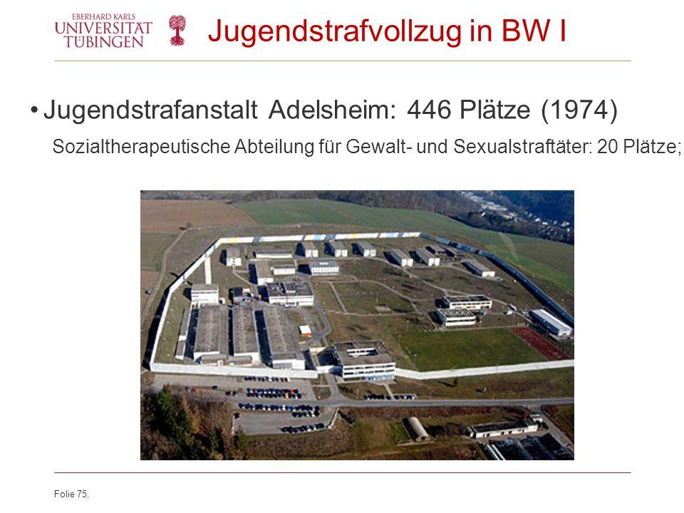 Jugendstrafvollzug in BW I