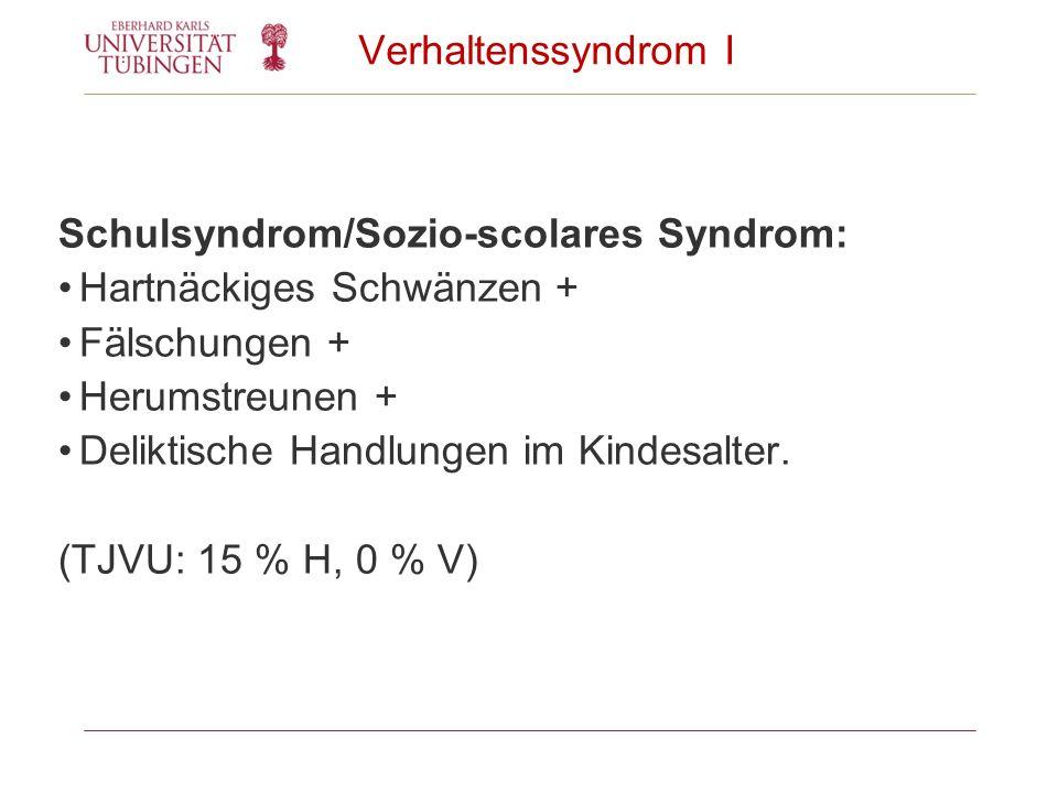 Schulsyndrom/Sozio-scolares Syndrom: Hartnäckiges Schwänzen +