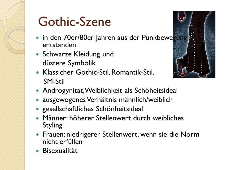 Gothic-Szene in den 70er/80er Jahren aus der Punkbewegung entstanden