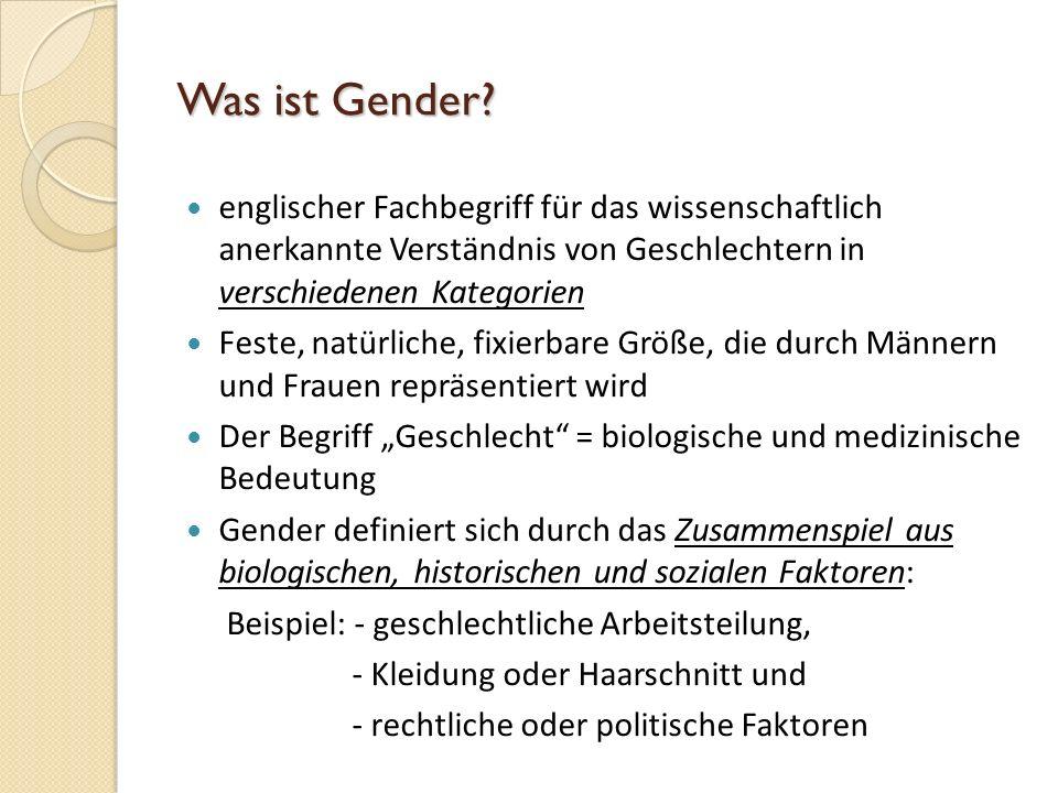 Was ist Gender englischer Fachbegriff für das wissenschaftlich anerkannte Verständnis von Geschlechtern in verschiedenen Kategorien.