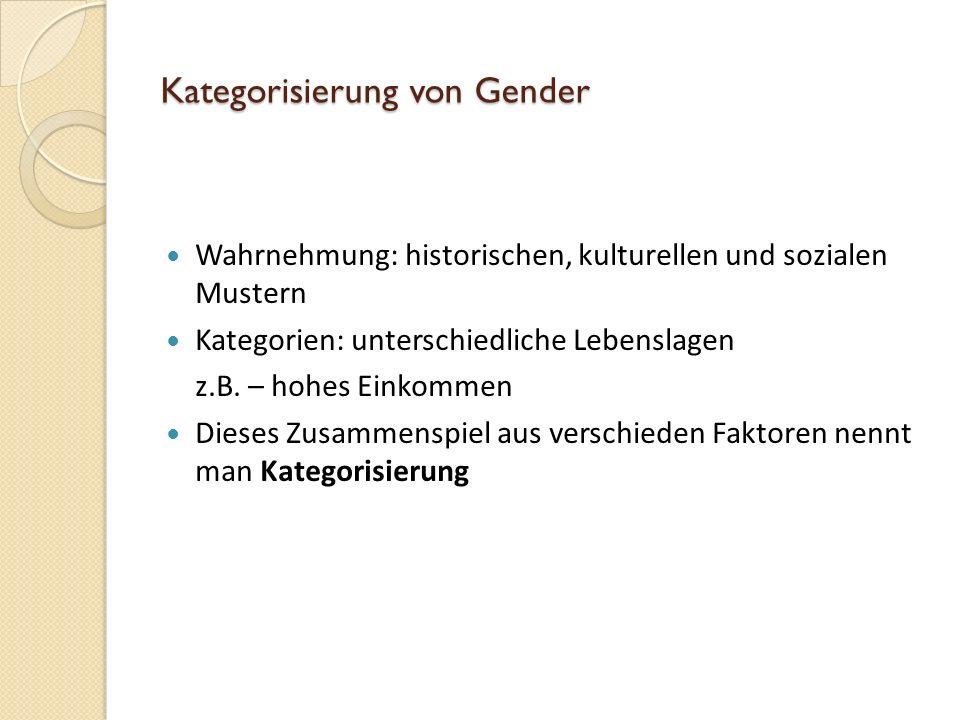Kategorisierung von Gender