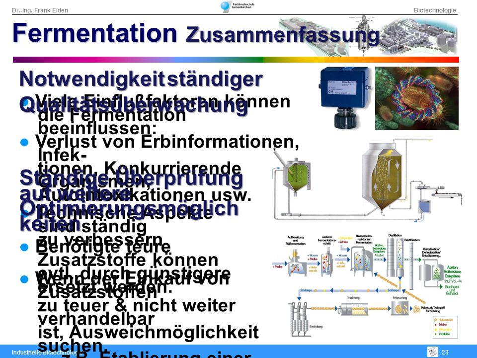 Fermentation Zusammenfassung