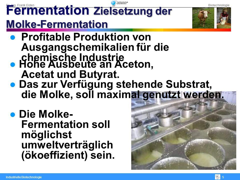 Fermentation Zielsetzung der Molke-Fermentation