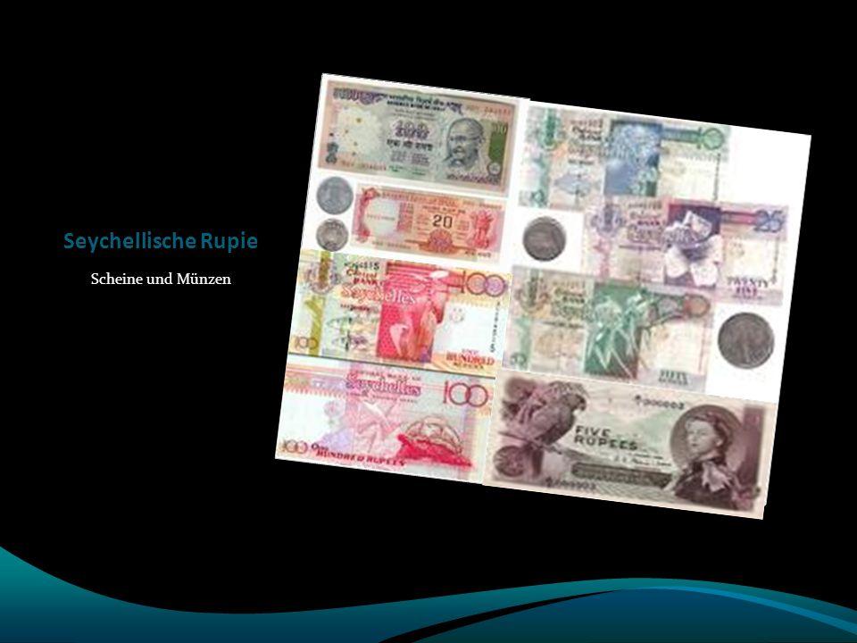 Seychellische Rupie Scheine und Münzen