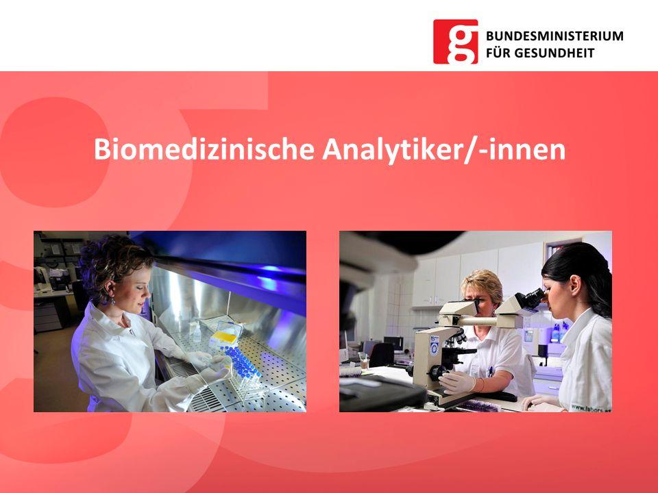 Biomedizinische Analytiker/-innen