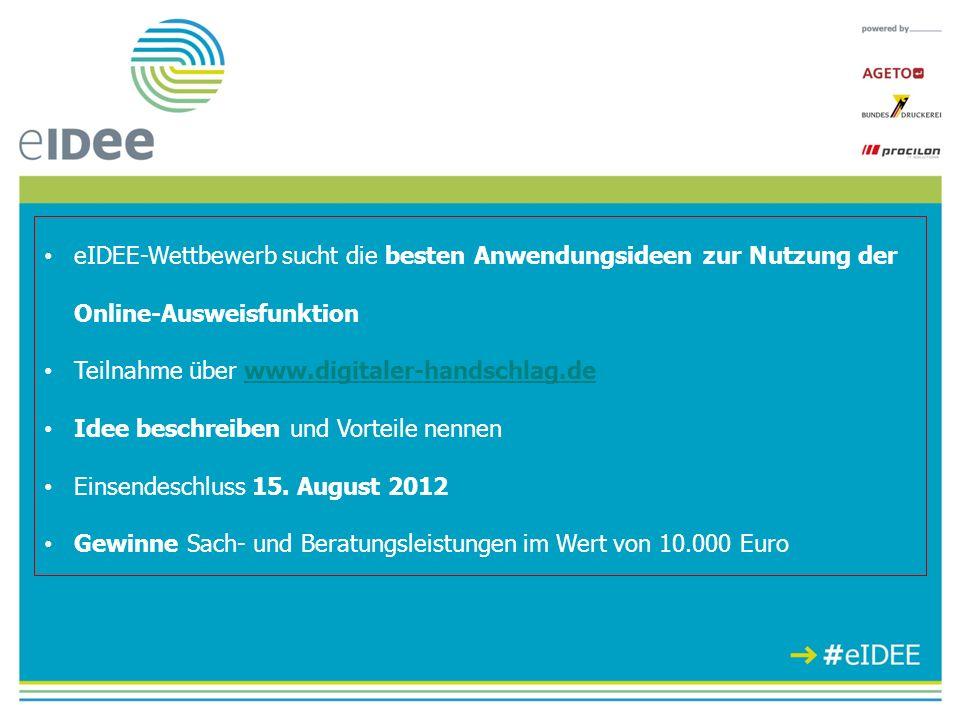 eIDEE-Wettbewerb sucht die besten Anwendungsideen zur Nutzung der Online-Ausweisfunktion