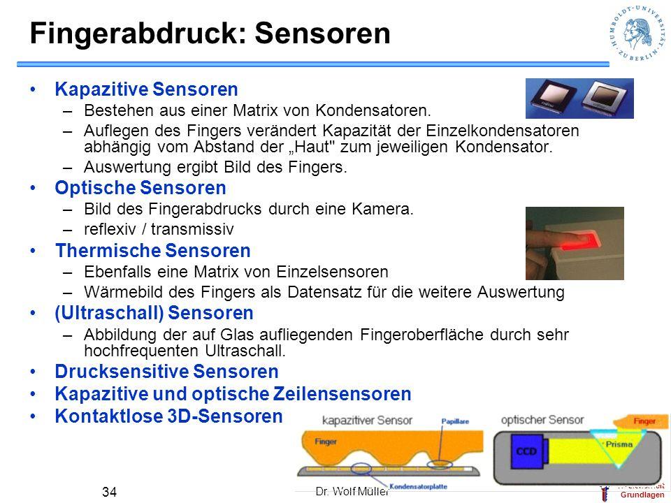 Fingerabdruck: Sensoren