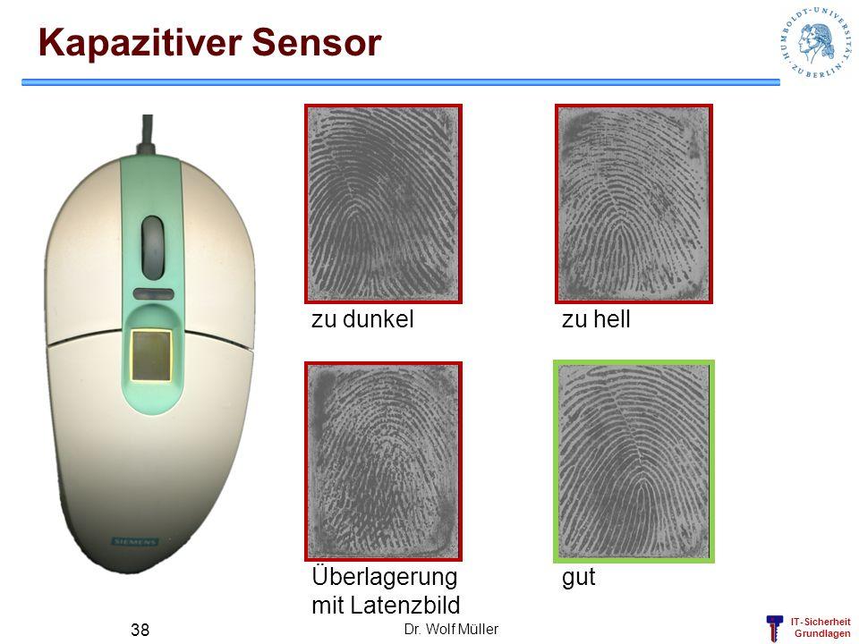 Kapazitiver Sensor zu dunkel zu hell Überlagerung mit Latenzbild gut